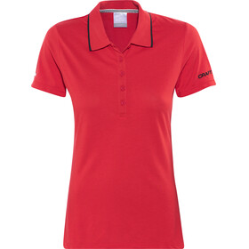 Craft In-The-Zone Polo Pique Shirt Women red